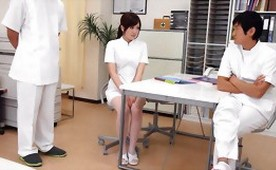 Young New Nurse Gets Practice with Doctor Cocks Inside her Holes