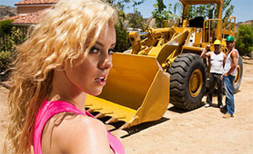 Seductive Hot Blonde Satisfied Construction Workers by Hardcore Threesome