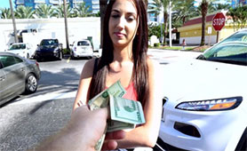 Beauty Brunette Sold her Pussy for this Sum of Money