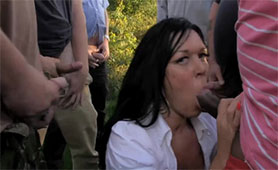 Outdoor Mouthfuck Orgy