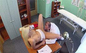 Medical Examination by Perverted Doctor Turned Into Fucking on the Ordination Table