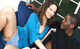 Passionate Interracial Sex with Black Young Stud and Sensitive MILF