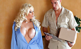 Lonely Wife Seduces Confused Postman with her Monster Boobs